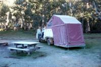 Camp at Davies Plain in High Country in winter!
