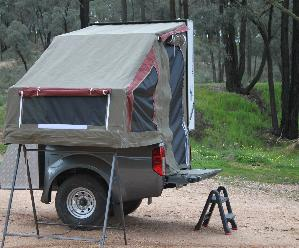 This model can also be adapted to allow this to fit any flat tray dual/twin cab ute. & Utility Campers